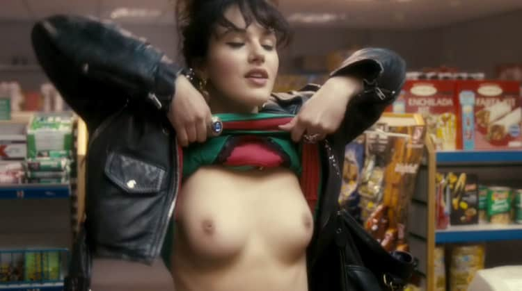 jessica Brown Findlay Flashes Her Boobs